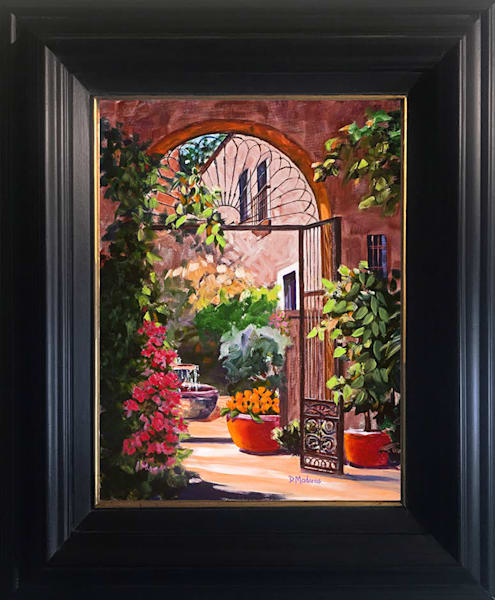 Sunday Afternoon Flowers Canvas Framed