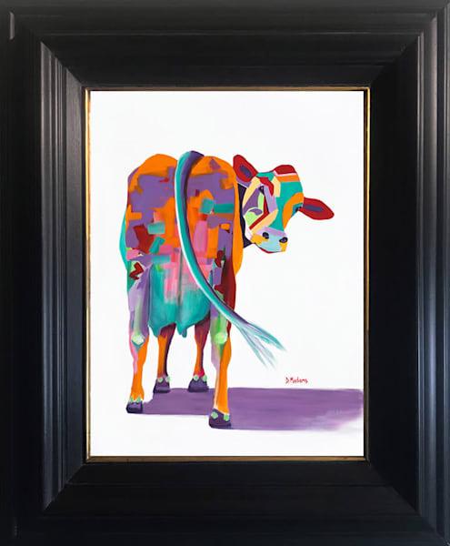Beatrice Cow Show Mini Canvas