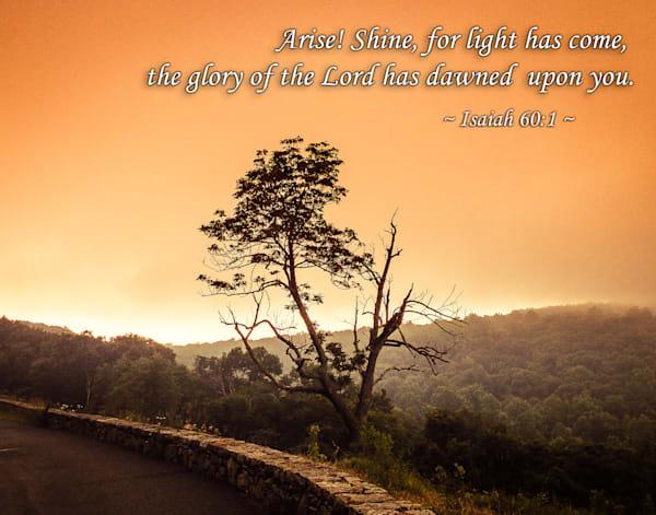 """Arise! Shine for Light has Come"" - Christian Wall Art"