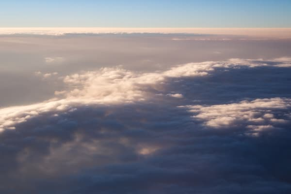 Aerial photography captures the clouds over Oregon
