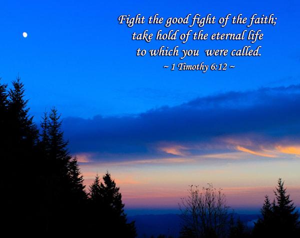 """Fight the Good Fight of the Faith"" | Spiritual Wall Art"