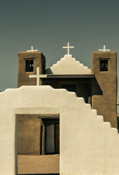Four Crosses | Ranchos de Taos Plaza - San Francisco de Asis |  Nathan Larson Photography