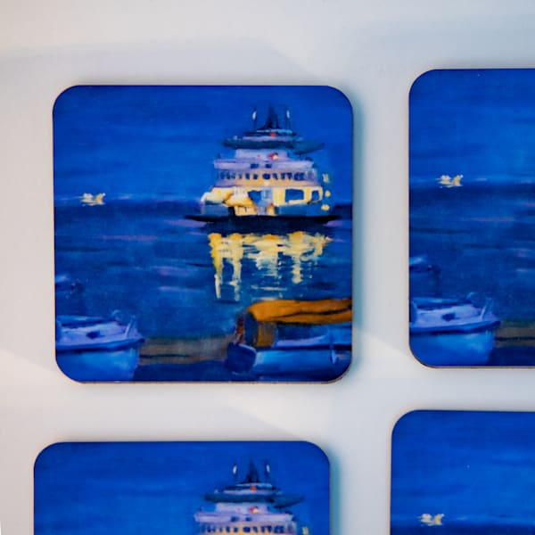 Coasters   Ferry Set Of Four | Jamie Lightfoot, Artist