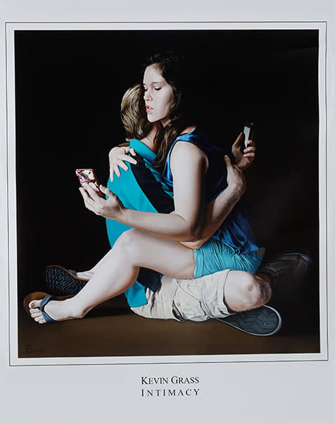 """""""Intimacy"""" print on glossy paper by Kevin Grass"""