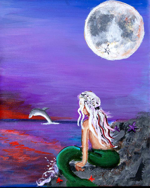 Tiny Mermaids Right Art by Steve Ellenburg Art