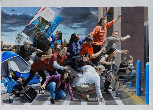 Loose canvas print of Black Friday by Kevin Grass
