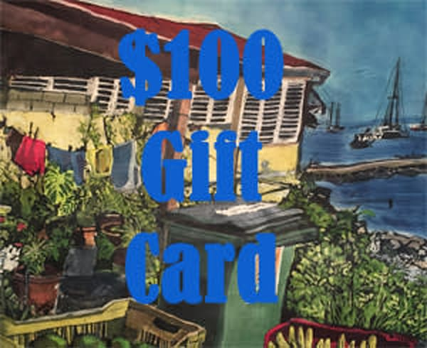 $100 Gift Card | M.C. Gill Tropical Art at the Funky Flamingo Studio