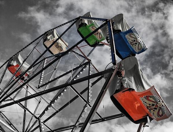 Ferris Wheel 2 Colorized Copy Photography Art   Rosanne Nitti Fine Arts