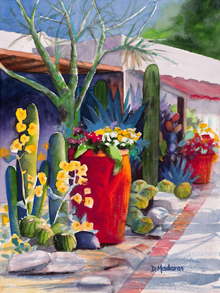 Pots at the Hacienda Painting by Diana Madaras