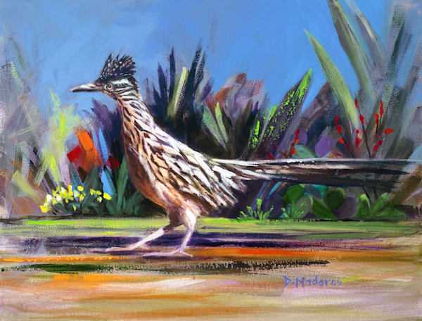 Roadrunner Mini Canvas by Diana Madaras