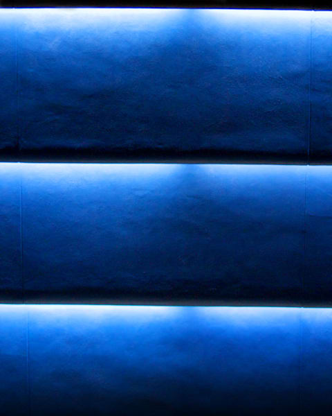 Visions, blue, horizontal, light.