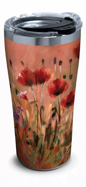 Poppies Stainless Steel Tumbler