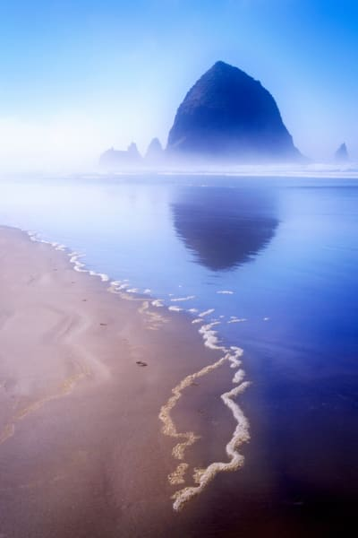 Canon Beach Oregon Reflection