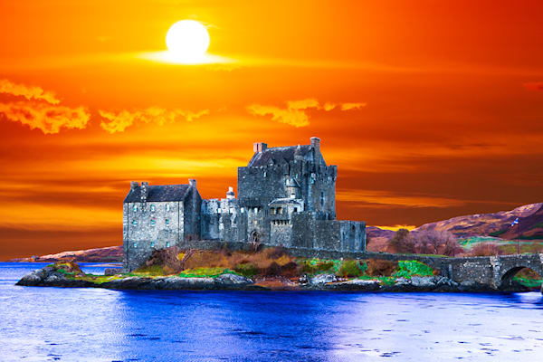 Eilean Donan Castle - Art of Scotland Print By Christopher Gatelock