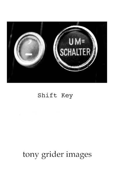 Shift Key Monochrome Poster Edition Photography Art   TONYGRIDERIMAGES.COM