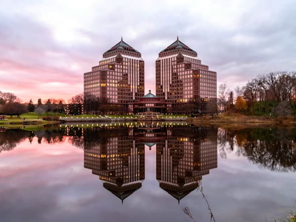 Carlson Towers Sunset - Minneapolis Cityscape | William Drew Photography
