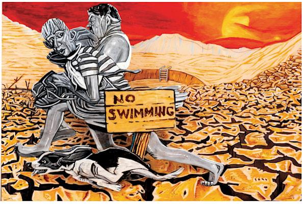 No Swimming! / Rockwell 2040