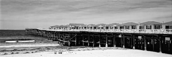 Crystal Pier Cottages Black And White Photography Art   Rosanne Nitti Fine Arts