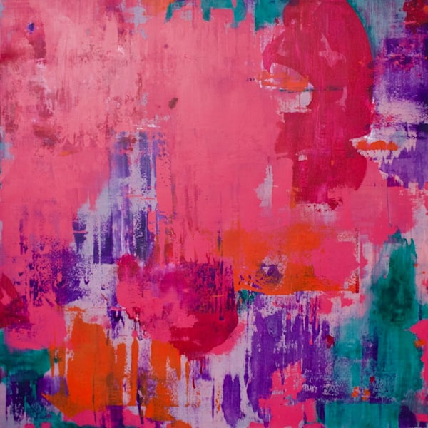 Conversing In Pinks Art | Lesley Koenig Studio