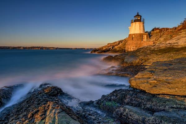 Golden House at Castle Hill Lighthouse   Shop Photography by Rick Berk