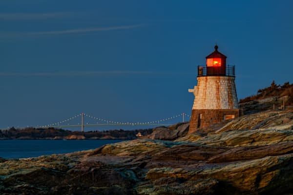 Dusk at Castle Hill Lighthouse   Shop Photography by Rick Berk