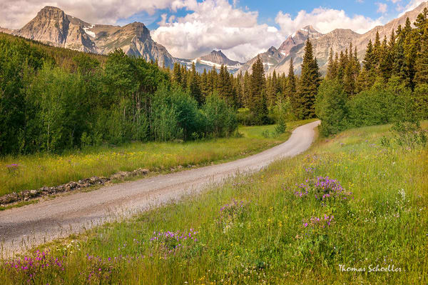 Cut Bank Valley Glacier National Park Montana | Beautiful fine art prints by Thomas Schoeller
