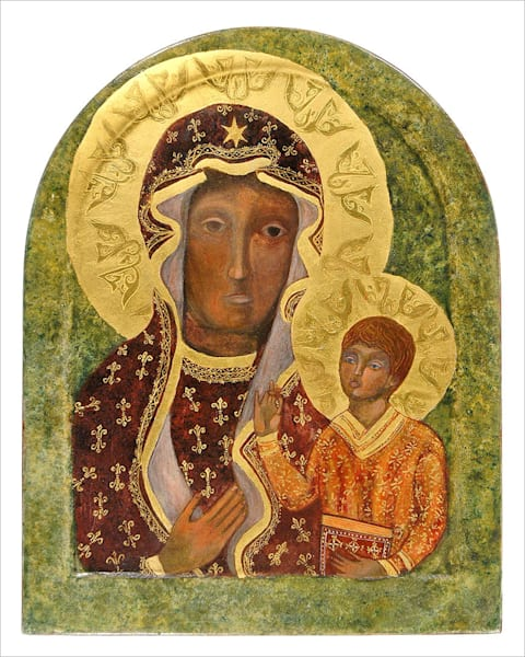 Black Madonna print by Andrea Bowes.