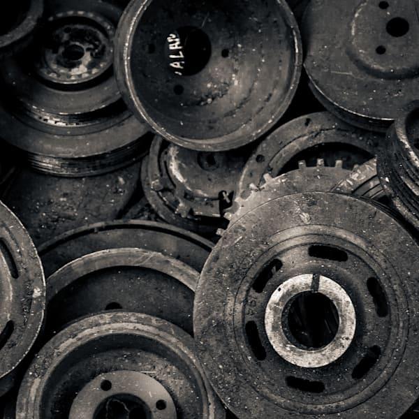 Scrap Yard Wheels Cogs And Gears Photography Art | Dan Katz, Inc.