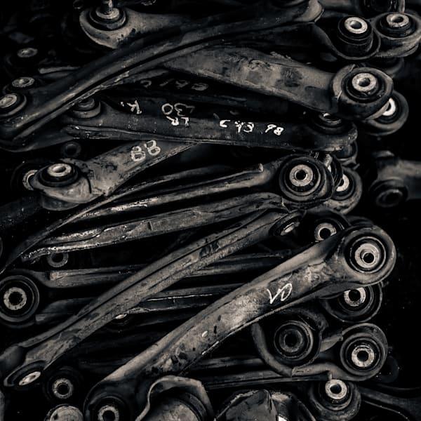 Scrap Yard Connecting Rods Photography Art | Dan Katz, Inc.
