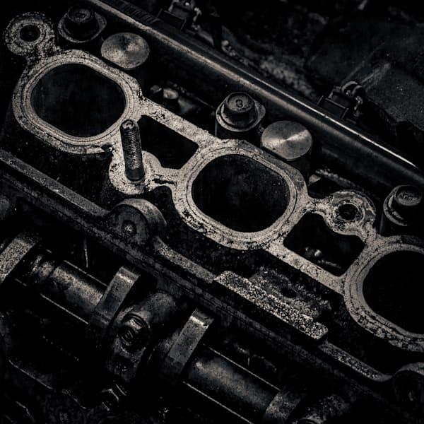 Scrap Yard Engine Case Photography Art | Dan Katz, Inc.