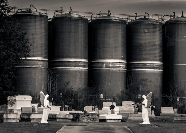 Graveyard And Tanks, New Orleans Photography Art | Dan Katz, Inc.