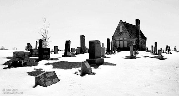 Graveyard In Snow Photography Art | Dan Katz, Inc.