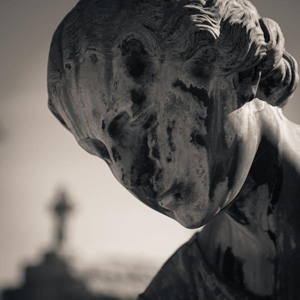 Stone Angel And Cross Metarie Cemetery New Orleans Louisiana 2017 Photography Art | Dan Katz, Inc.