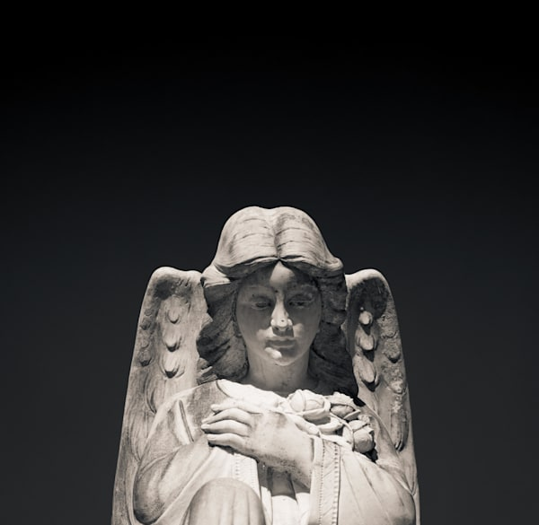 Stone Angel Metarie Cemetery New Orleans Louisiana 2017 Photography Art | Dan Katz, Inc.