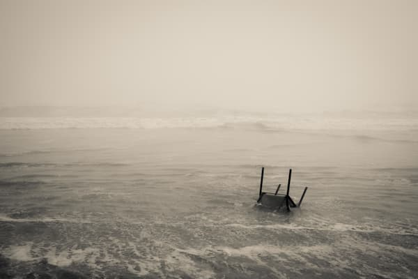 Chair Washed Ashore Photography Art | Dan Katz, Inc.