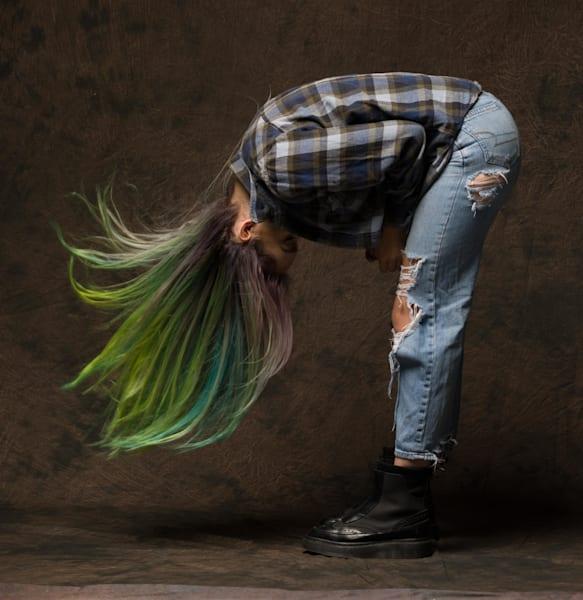 Green Hair #1 Photography Art | Dan Katz, Inc.