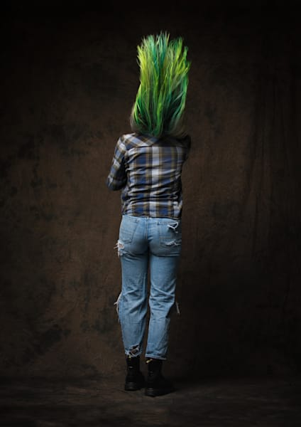 Green Hair #2 Photography Art | Dan Katz, Inc.