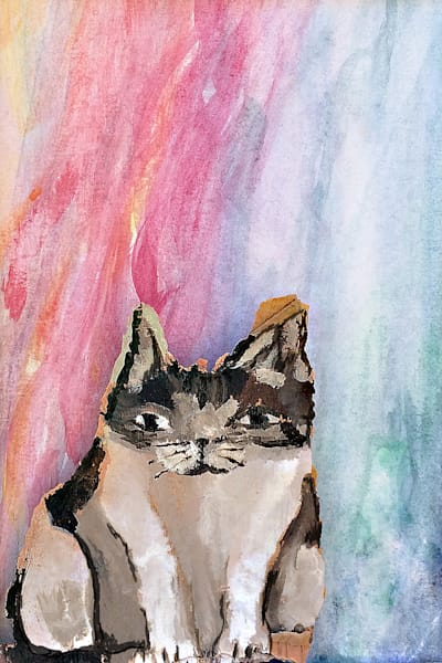 Kitten From the Happy Surprises Collection by Marie Stephens Art