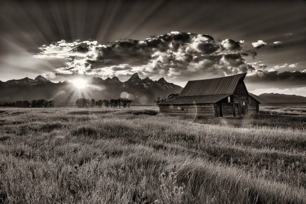 Mormon Barn Sunset