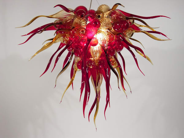 Chandelier #316   Ed Pennebaker, Red Fern Glass