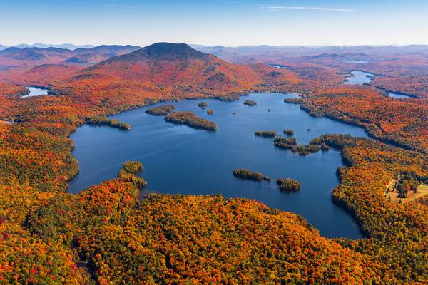 Blue Mt Lake Fall