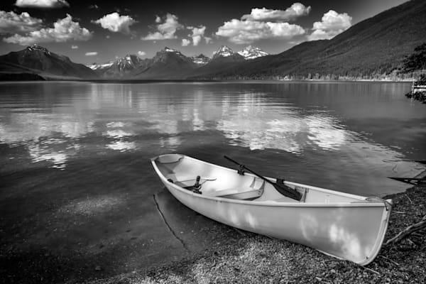 Afternoon at Lake MacDonald in Black & White | Shop Photography by Rick Berk