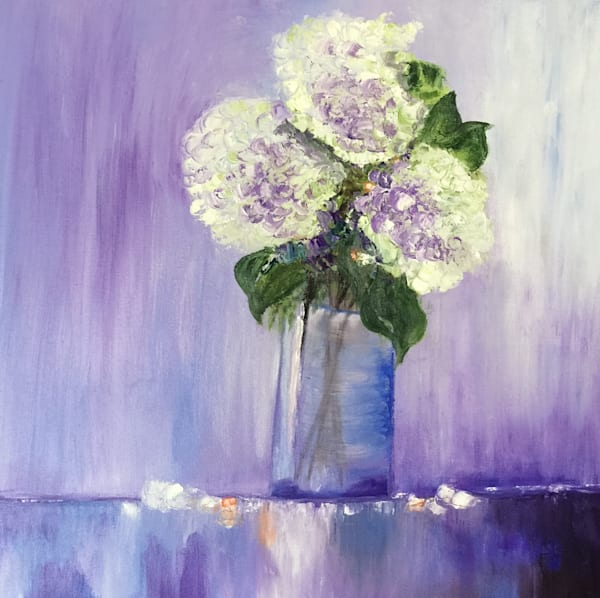 White Hydrangeas Art | Marie Art Gallery