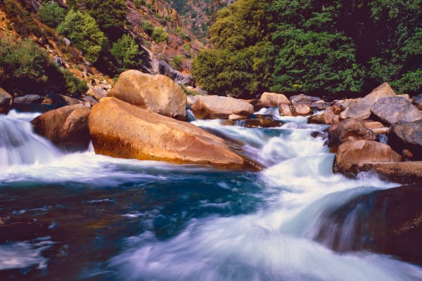 Rushing water of Kings River, Kings Canyon National Park
