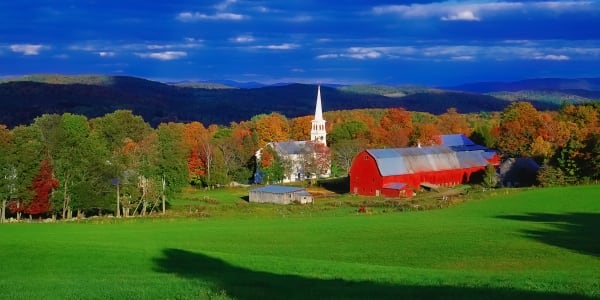 New England Village In Autumn Photography Art | ePictureGallery