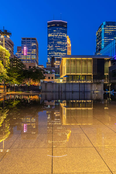 Reflections from Peavey Plaza - Minneapolis City Photos | William Drew