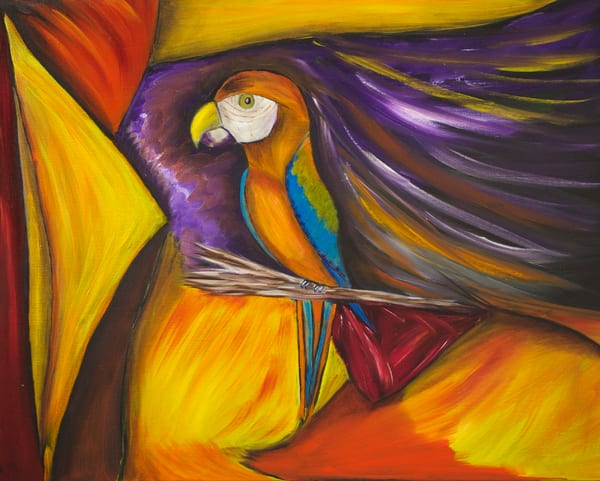 The Parrot Art | Marie Art Gallery