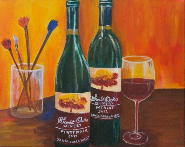 Sunlit Oaks Winery Art | Marie Art Gallery