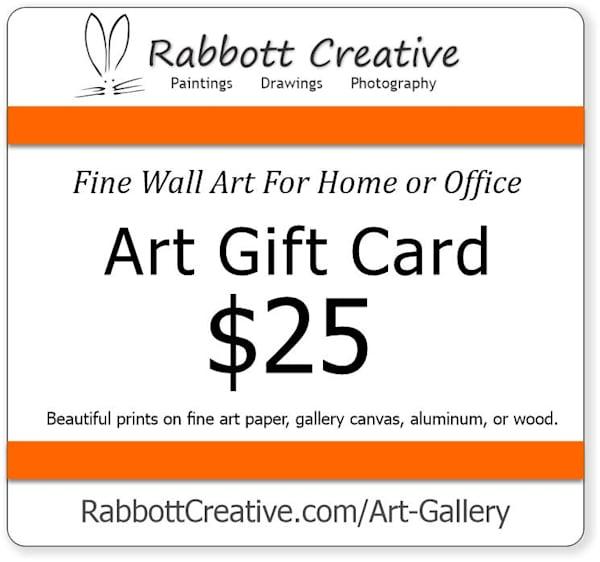 Rabbott Creative $25 Gift Card - Fine Wall Art