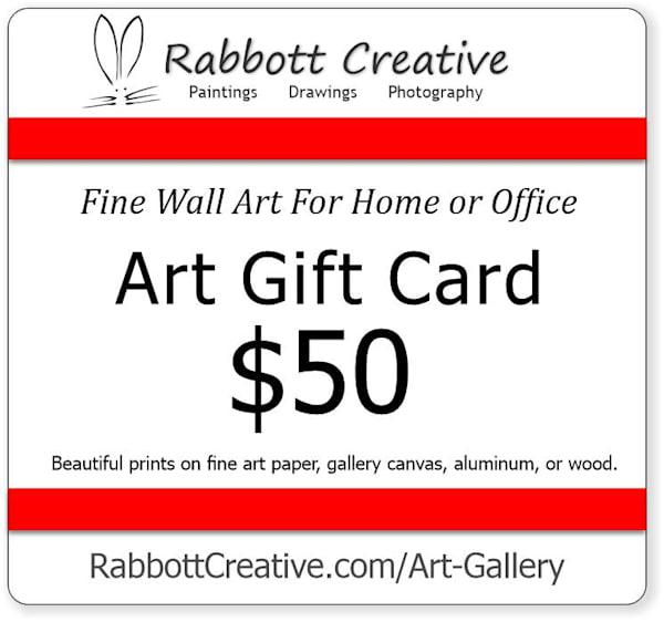 Rabbott Creative $50 Art Gift Card
